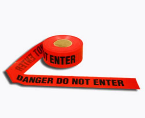 Barricade Tape - Red, Danger Do Not Enter - 1000'