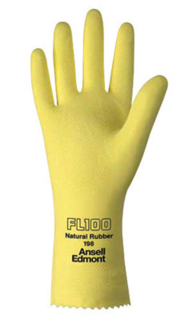 "Hyflex Yellow Latex Flock-lined Glove, 12"""