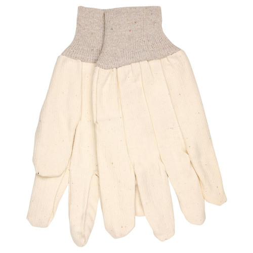 Cotton Corded Canvas Gloves - Clute Pattern - Knit Wrist