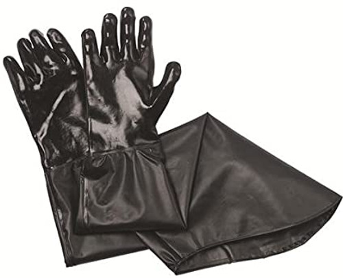 GLOVE BLACK PVC TRAPPERS 31