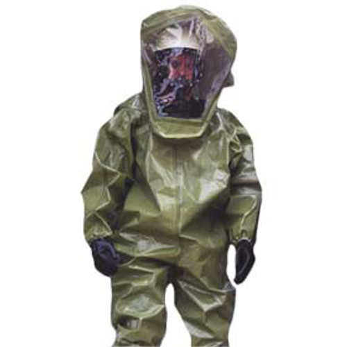 Tychem BR Coverall w/Respirator-Fit Hood