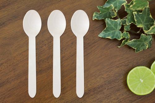 FOOGO Green Disposable Wooden spoons