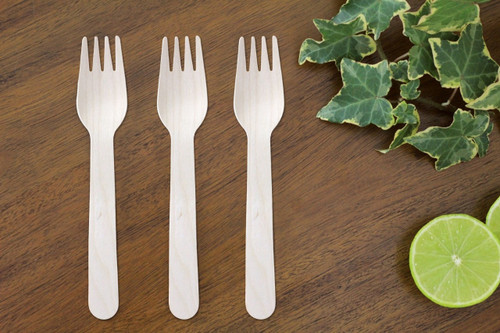 FOOGO green Disposable wooden forks