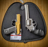 Gun Rug Soft Pistol Case open with a HandK USP Compact and a .357 Revolver