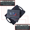 Hard Pistol Case displaying its premium quality EPE foam  in detailed rich content.
