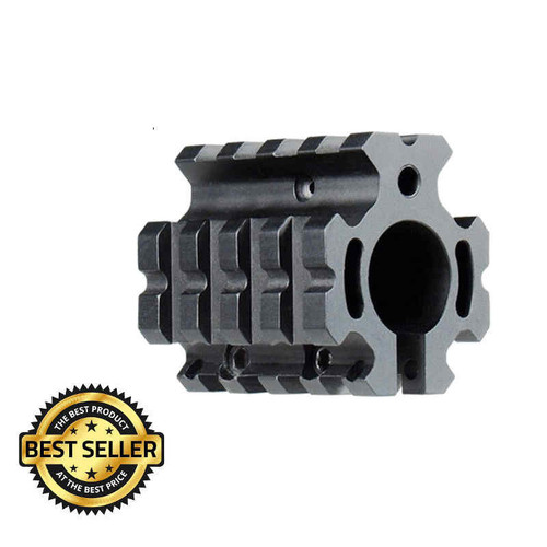 AR-15 Carbine Low Profile Quad Picatinny Rail Gas Block