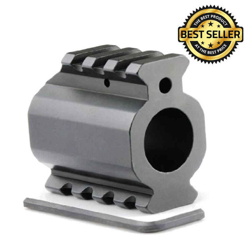 AR-15 Dual Low Profile Gas Block with Picatinny Rails Top & Bottom