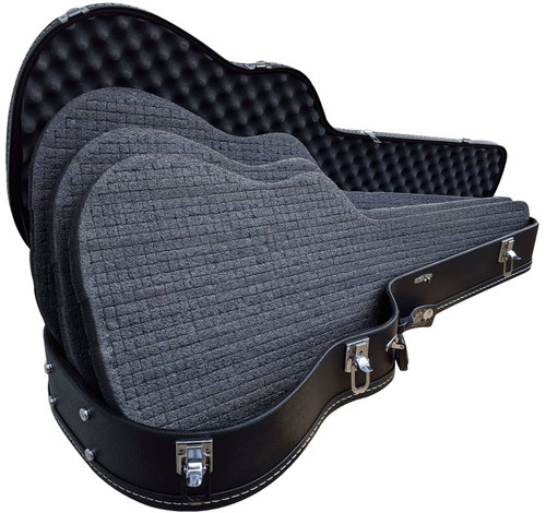 Discreet Concealment Guitar Rifle Case open bottom side displaying all premium thick 3 foam layers