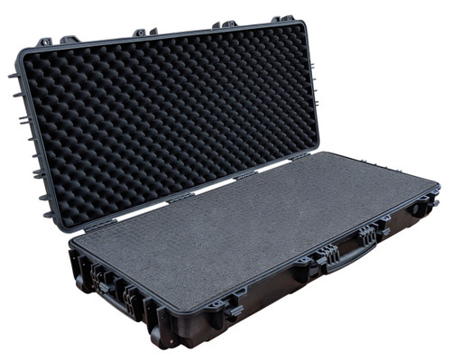 Triple Rifle/Bow Case with high-quality dual resin wheels