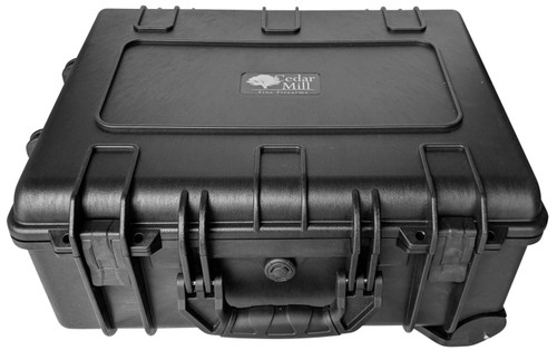 10 Pistol & PDW Weapons case top front angle with black matte finish