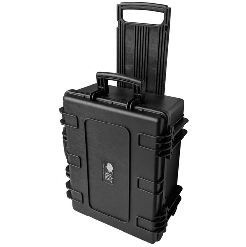 10 Pistol & PDW Weapons case upright angle with retractable handle