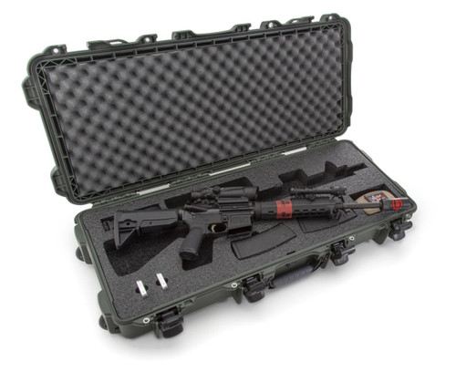 Nanuk 985 Case with custom foam insert for Takedown or Carbine length AR15