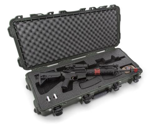 Nanuk 985 Case with custom foam insert for Takedown or Carbine length AR15