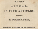 A Star in the East: David Walker and the Abolitionist Struggle