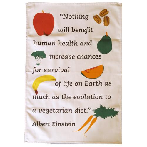 Einstein Vegetarian Tea Towel