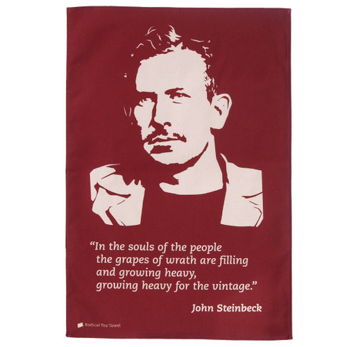 John Steinbeck Tea Towel