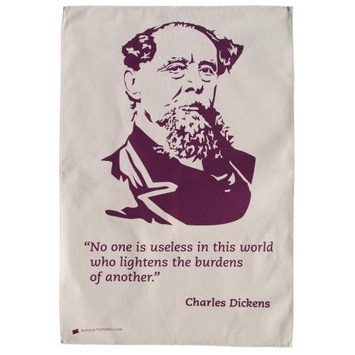 Charles Dickens Tea Towel
