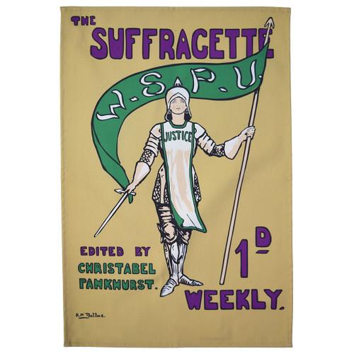 Joan Of Arc Suffragette Tea Towel