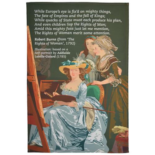 Robert Burns Rights of Woman Tea Towel