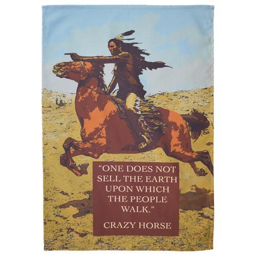 Crazy Horse Tea Towel