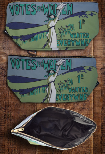 Votes for Women Wanted Toiletry Bag