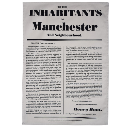 Henry Hunt to the Inhabitants of Manchester Tea Towel