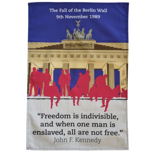 Fall of Berlin Wall Tea Towel
