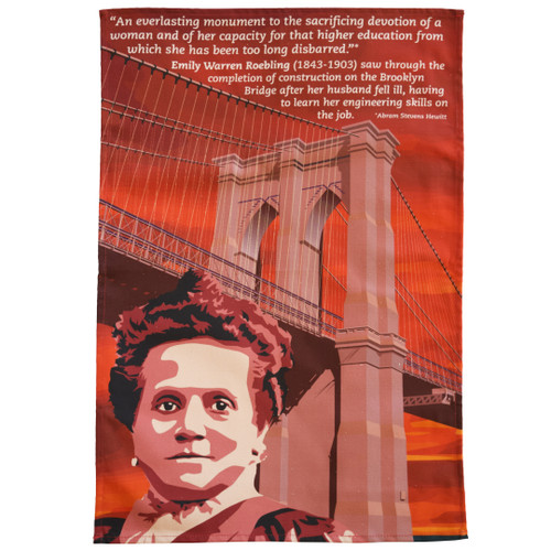Emily Roebling & the Brooklyn Bridge Tea Towel