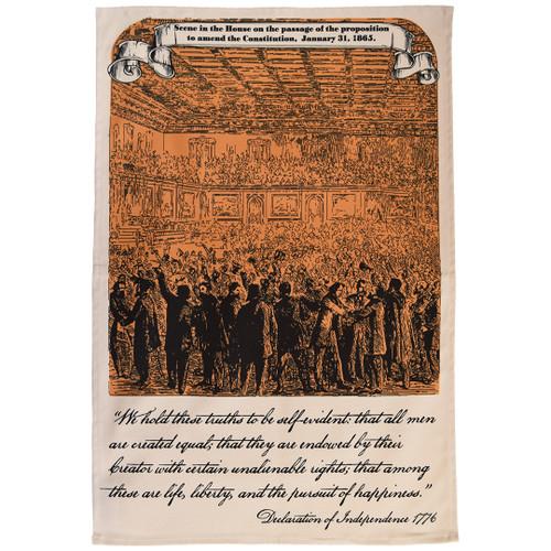 Reconstruction Amendments (US Constitution) Tea Towel