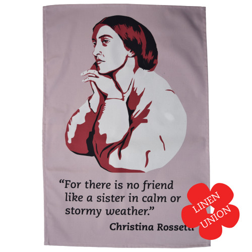 Christina Rossetti Linen Union Tea Towel