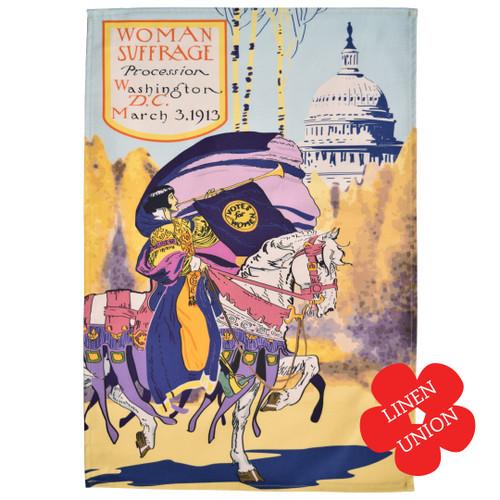 Washington DC Suffrage Linen Union Tea Towel