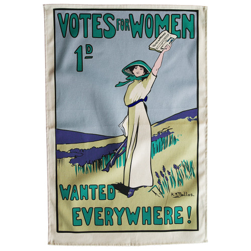 Votes for Women Wanted Tea Towel