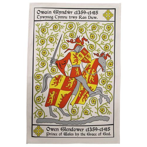 Owain Glyndŵr Tea Towel