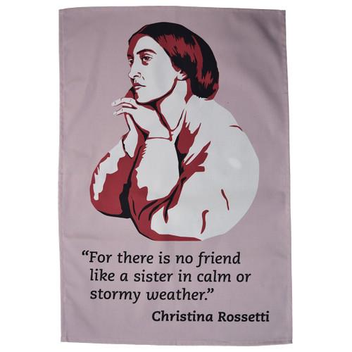 Christina Rossetti Tea Towel