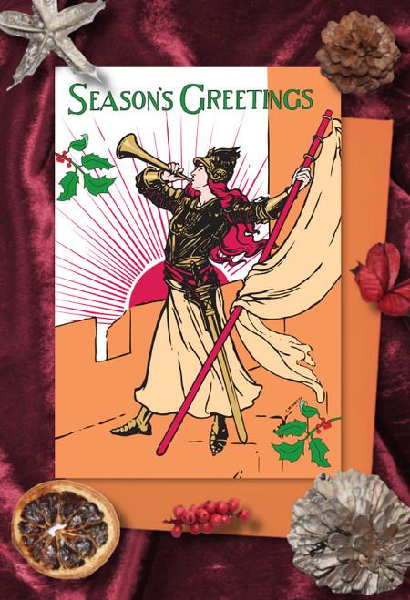 Bugler Girl Christmas cards pack of 8
