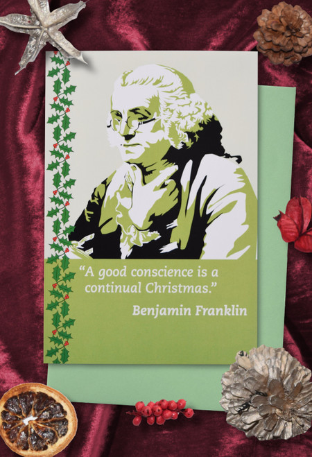 Benjamin Franklin Christmas cards pack of 8