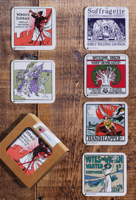 British Women's Suffrage Coaster Collection