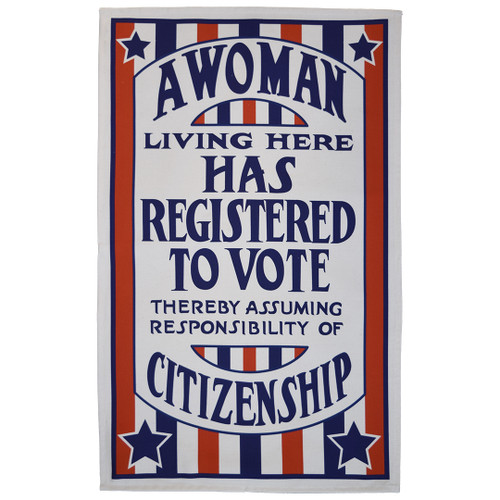 A Woman Registered to Vote Tea Towel