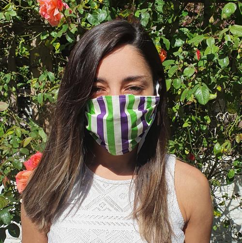 Suffragette Stripes Face Mask