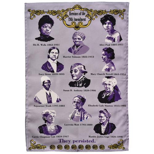 19th Amendment Heroines tea towel
