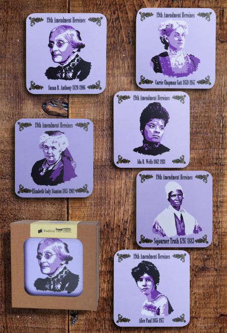 19th Amendment Heroines coaster set