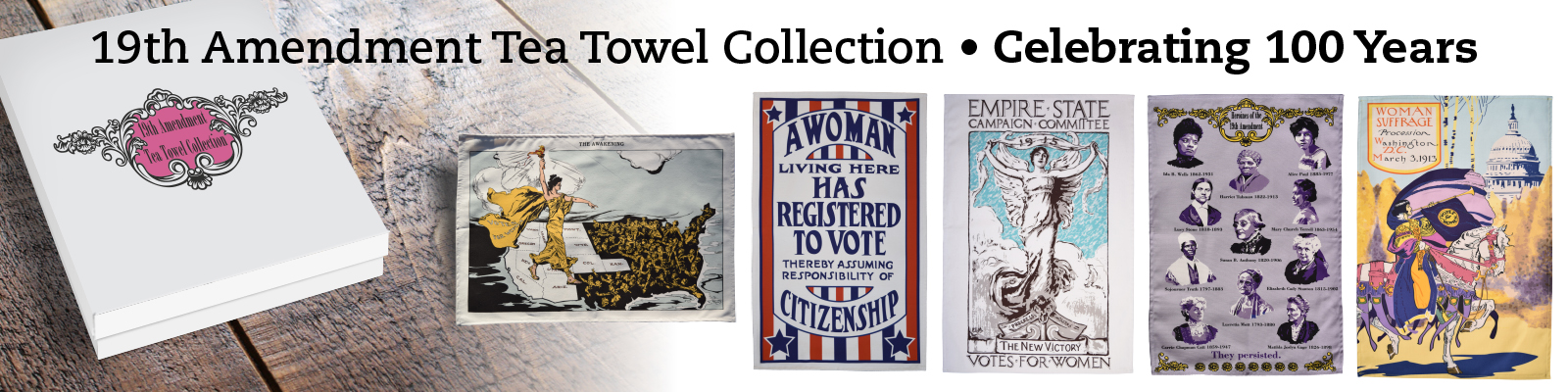 19th Amendment Tea Towel Collection