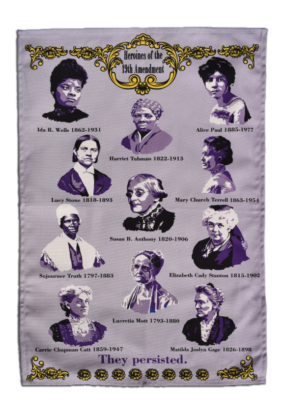 19th Amendment Heroines Tea Towel