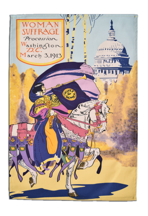 Washington DC Suffrage Tea Towel