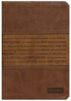 Strong and Courageous Journal, Brown