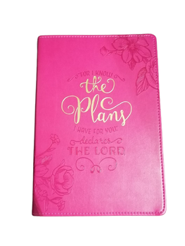 The Plans Floral Journal  in Pink