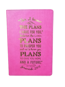 For I know The Plans I Have For You Pink Journal