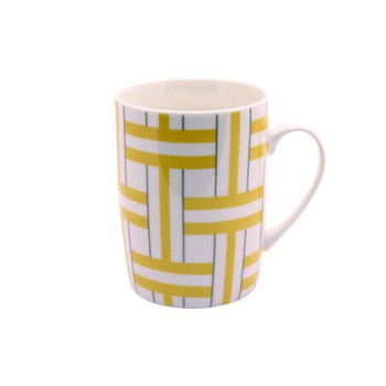 Ceramic Mug - Black & Mustard - 350ml