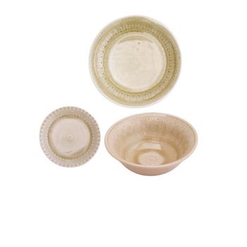 Ceramic Dinnerware - Faded Gold