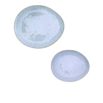 Ceramic Tear-drop Shaped Dinnerware - Speckled Blue
